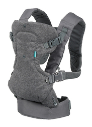 Infantino Flip Advanced 4-in-1 Convertible Baby Carrier, Grey