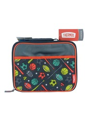 Thermos Standard Lunch Kit for Kids with Ldpe Liner, Sports, Red/Black