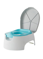 Summer Infant 2-in-1 Step Up Baby Potty, Blue/Grey