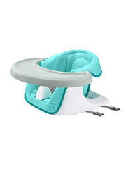 Summer Infant 3-in-1 Floor N More Baby Booster, Blue/White
