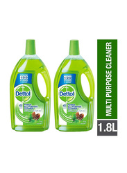 Dettol Pine All Purpose Home Cleaner, 2 Bottles x 1.8 Litres