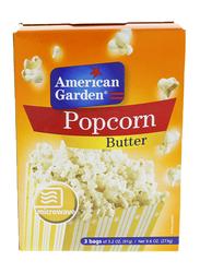 American Garden Butter Microwave Popcorn, 6 Bags x 91g