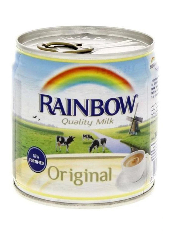 Rainbow Original Evaporated Fortified Milk, 96 Cans x 170g