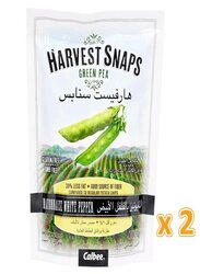 Calbee Harvest Snaps Mayonnaise White Pepper Green Pea Crisps, 2 Pouches x 93g