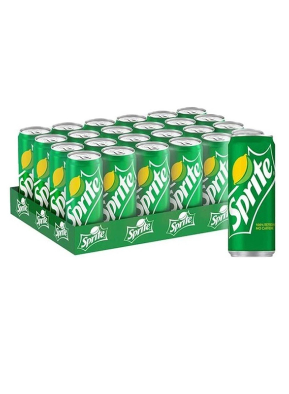 Sprite Regular Soft Drink, 24 Cans x 330ml