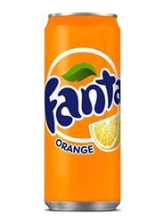 Fanta Orange Soft Drink, 24 Cans x 330ml