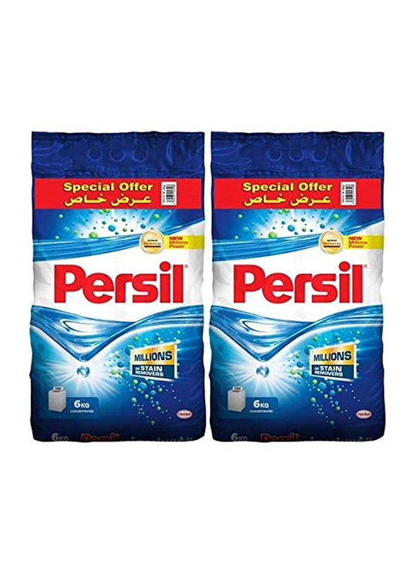 Persil Concentrated Washing Powder Detergents, Top Load, 2 Packs x 6 Kg