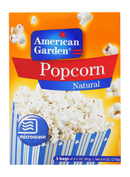 American Garden Natural Microwave Popcorn, 6 Bags x 91g