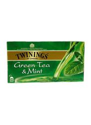 Twinings Mint Green Tea, 25 Tea Bags, 2 Boxes x 25 Tea Bags x 2g