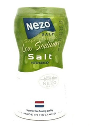 Nezo Iodized Low Sodium Salt, 2 Bottles x 450g