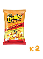 Cheetos Flamin' Hot Crunchy Chips, 2 Packets x 205g