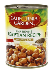 California Garden Fava Beans Egyptian Recipe Canned Vegetables, 3 Cans x 450g