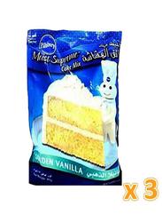 Pillsbury Moist Supreme Golden Vanilla Cake Mix, 3 Pieces x 485g