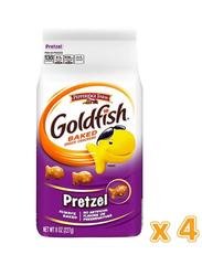 Peppridge Farm Goldfish Pretzel Baked Snack Crackers, 4 x 227g