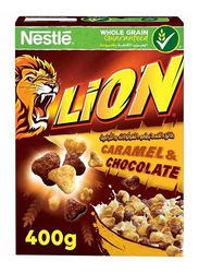 Nestle Lion Caramel & Chocolate Cereal, 2 Boxes x 400g