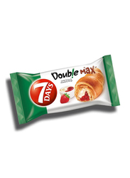 7-Days Double Super Max Vanilla Flavor and Strawberry Fillings Croissant, 36 x 55g