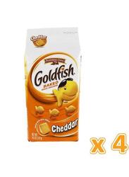Peppridge Farm Goldfish Cheddar Baked Snack Crackers, 4 x 187g
