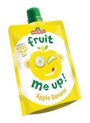 Andros Fruit Me Up Apple Banana Fruit Juice, 4 Pouches x 90g