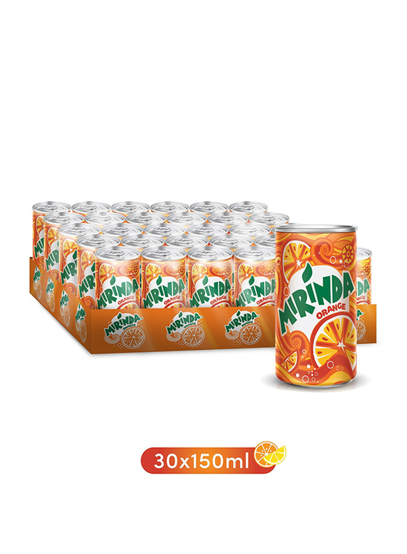 Mirinda Orange Soft Drink, 30 Cans x 155ml