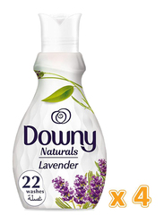 Downy Naturals Concentrate Lavender Scent Fabric Softener, 4 Bottles x 880ml