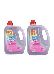 Clorox 5-in-1 Lavender Disinfectant Floor Cleaner, 2 Gallons x 4.5 Liters