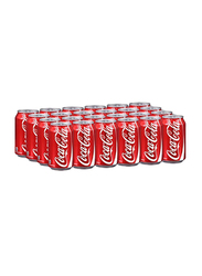 Coca Cola Carbonated Soft Drink, 24 Cans x 330ml