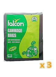 Falcon Garbage Bags, 65cm x 95cm, 60 Bags x 30 Gallon