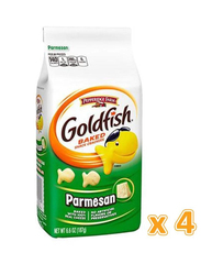 Peppridge Farm Goldfish Parmesan Baked Snack Crackers, 4 x 187g