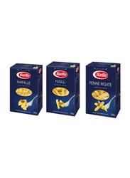 Barilla Pasta Farfalle/Penne Rigate/Fusilli Pasta Bundle,