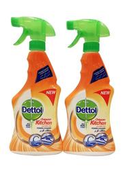 Dettol Healthy Kitchen Power Cleaner, 2 Bottles x 500ml