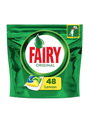 Fairy Original All-in-One Lemon Dishwasher Tablets, 4 Pouches x 48 Tablets