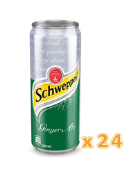 Schweppes Ginger Ale Soft Drink, 24 Cans x 330ml