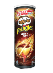 Pringles Hot & Spicy Chips, 4 Cans x 165g