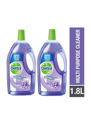 Dettol Power Lavender All Purpose Home Cleaner, 2 Bottles x 1.8 Litres