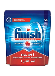 Finish All In 1 Powerball Regular Dishwasher Detergent Tablets, 2 Packs x 56 Tablets