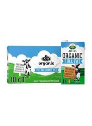 Arla Organic Full Fat Milk, 10 x 1 Liter