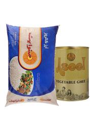 Sunwhite Calrose Rice (10 KG) + Free Aseel Vegetable Ghee (1 Kg)