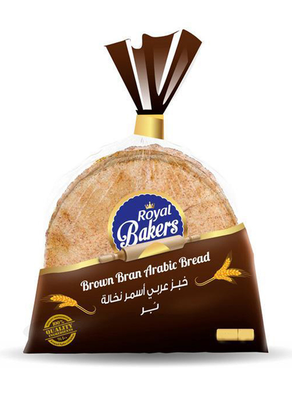 Royal Bakers Brown Arabic Bread, 2 Packs x 550g