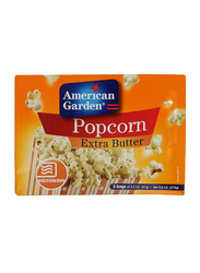 American Garden Extra Butter Microwave Popcorn, 6 Bags x 91g