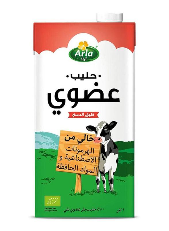 Arla Organic Low Fat Milk, 4 x 1 Liter