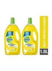 Dettol Power Lemon All Purpose Home Cleaner, 2 Bottles x 1.8 Litres