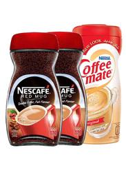 Nescafe Red Mug (2 X 200 gm) + Free Nestle Coffee Mate Original Coffee Creamer (400 gm)