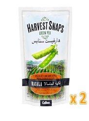 Calbee Harvest Snaps Masala Green Pea Crisps, 2 Pouches x 93g