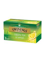 Twinings Lemon Green Tea, 2 Boxes x 25 Tea Bags x 2g