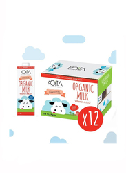 Koita Low Fat Organic Cow Milk, 12 x 1 Liter