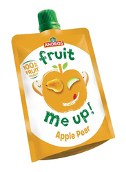 Andros Fruit Me Up Apple Pear Fruit Juice, 4 Pouches x 90g