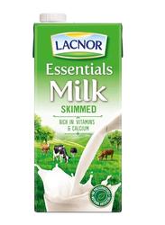 Lacnor Essentials Skimmed Milk, 12 x 1 Liter