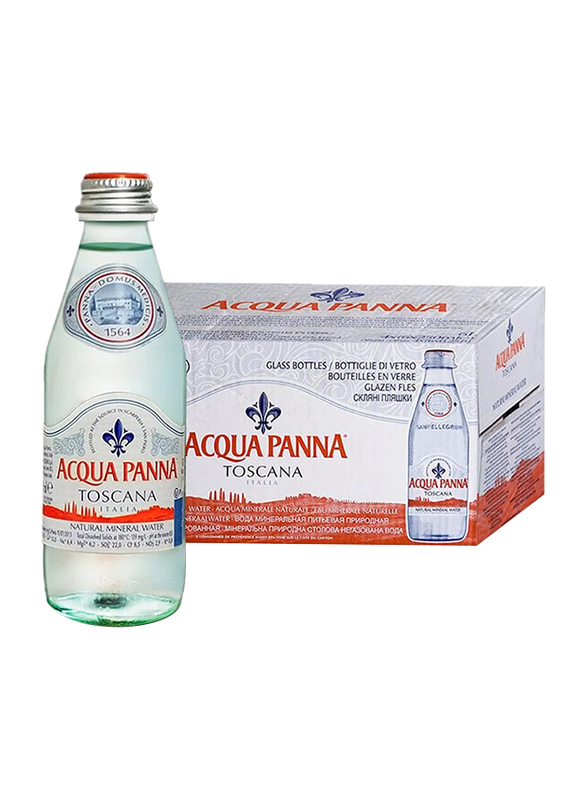 Acqua Panna Mineral Water, 24 Glass Bottles x 250ml