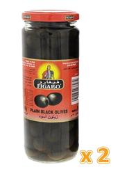 Figaro Plain Black Olives Pickle, 2 Jars x 270g