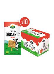 Arla Organic Low Fat Milk, 10 x 1 Liter
